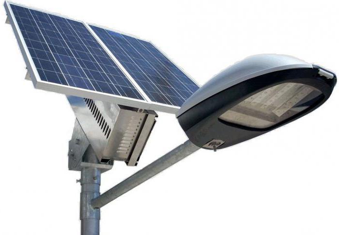 solar-powered LED street lights