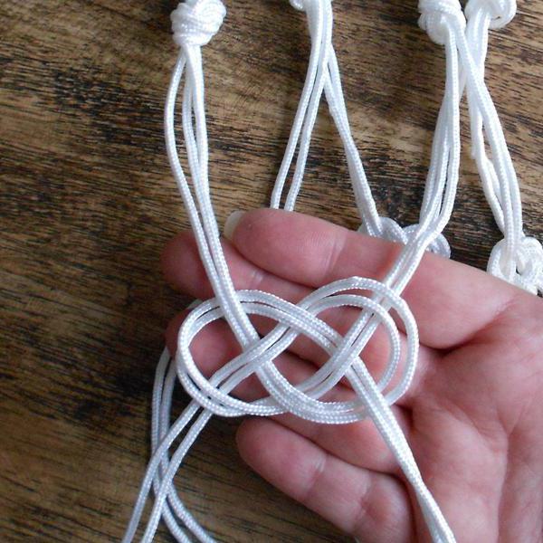 ткацкие узлы как завязывать схема незаметный узел для связывания