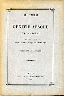 Ferdinand de Sosisur Linguistics Works