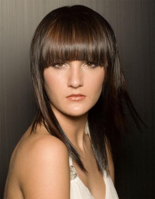 каскад на длинные волосы с челкой фото
