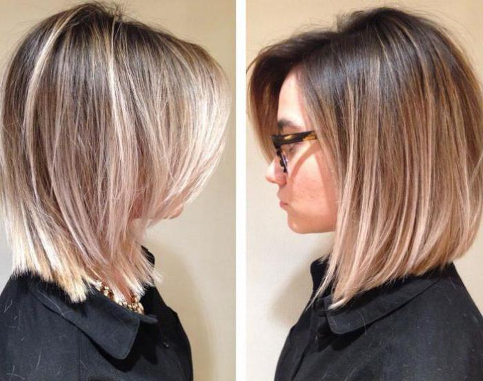 Окраска. коротких волос