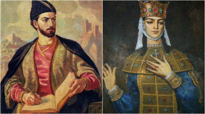 Картинки по запросу шота руставели и царица тамара