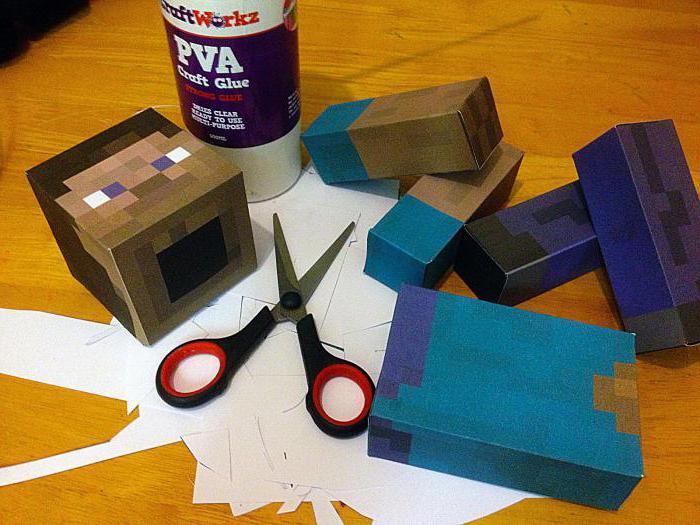 как сделать из бумаги стива из майнкрафт