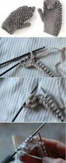 knitting mittens scheme and description