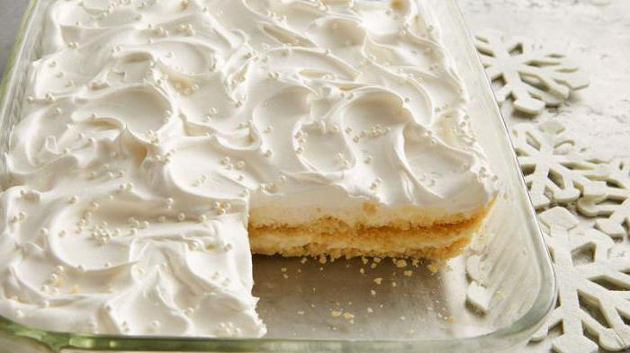 мокрое безе для украшения торта