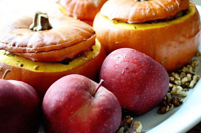 Baked apples with pumpkin recipe