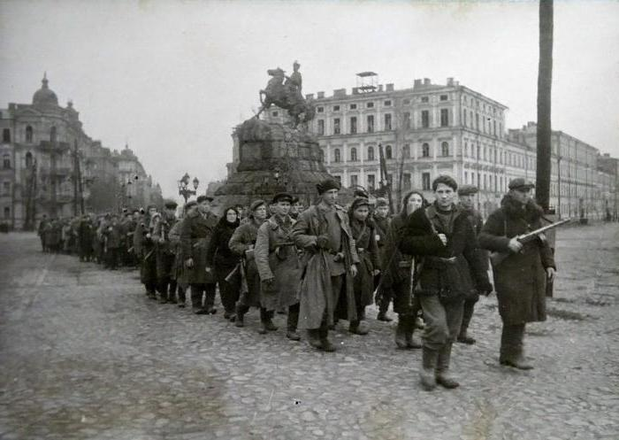 The liberation of Kiev from the German fascist invaders