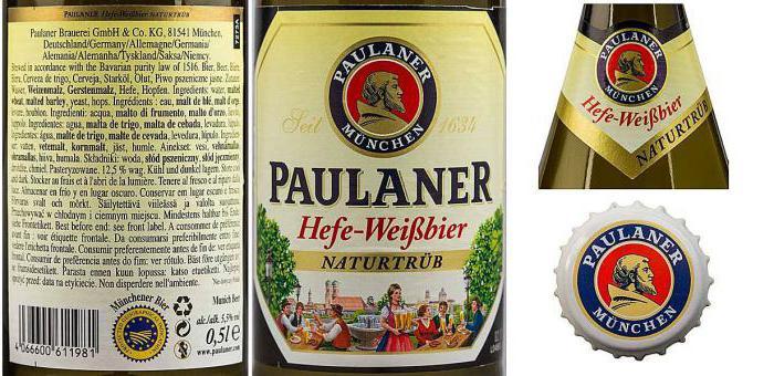 Beer Paulaner unfiltered