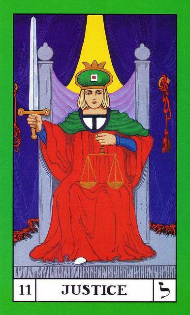 tarot card justice value