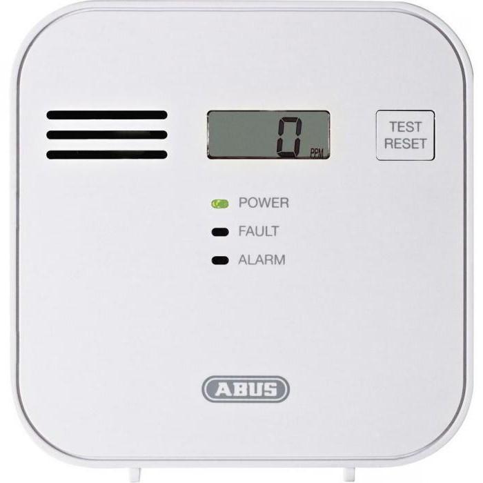 portable carbon monoxide detector