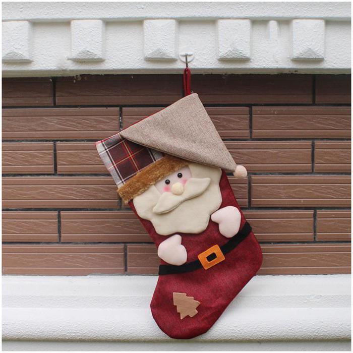 Новогодние носки для подарков своими руками