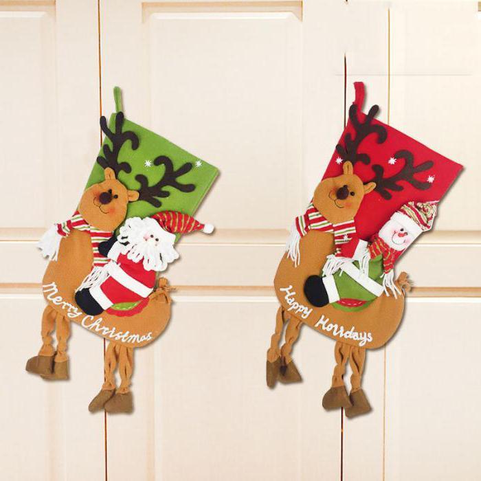 Новогодние носки для подарков своими руками: описание ...