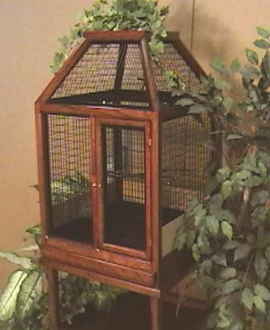 wooden canary cage