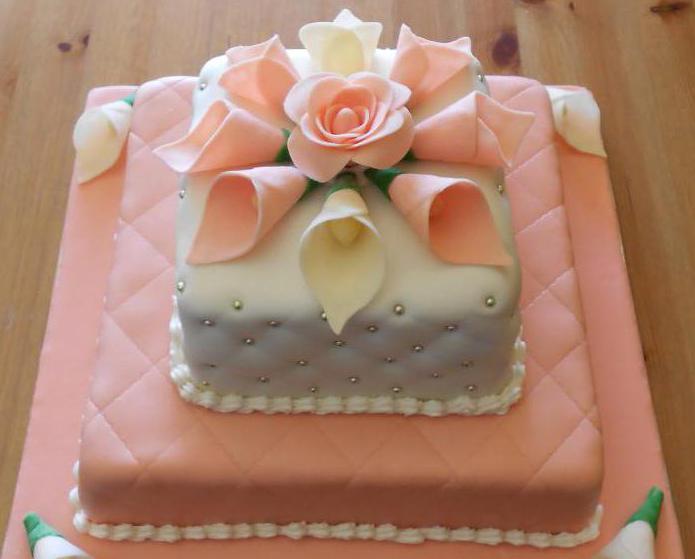 торт двухъярусный на день рождения