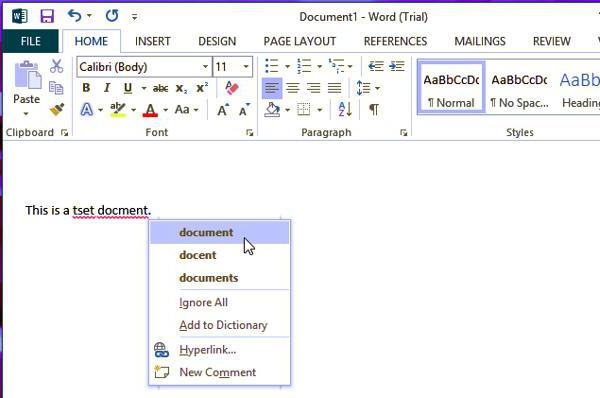 how to remove red underscores in word