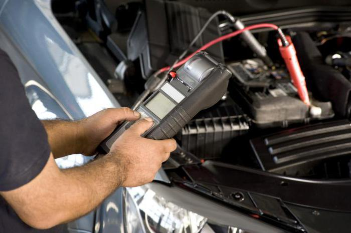 What should be the voltage on the car battery