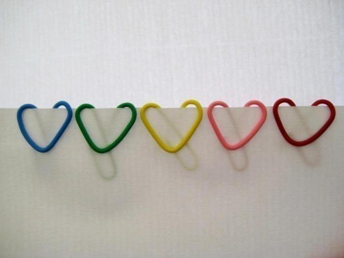 how to make hearts out of clips