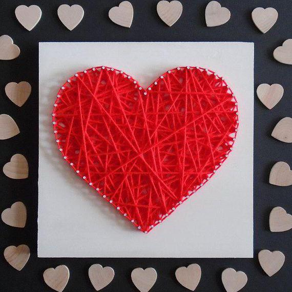 Hearts from paper clips step by step