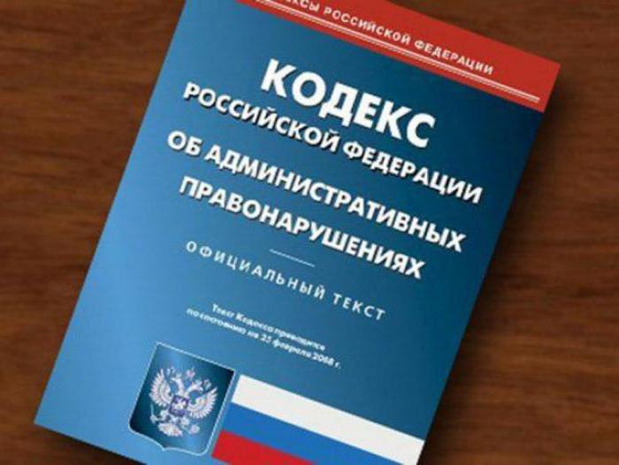 КоАП РФ Кодекс об административных правонарушениях КоАП