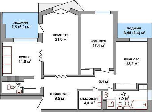 3-комнатная квартира: планировка, особенности и рекомендации.