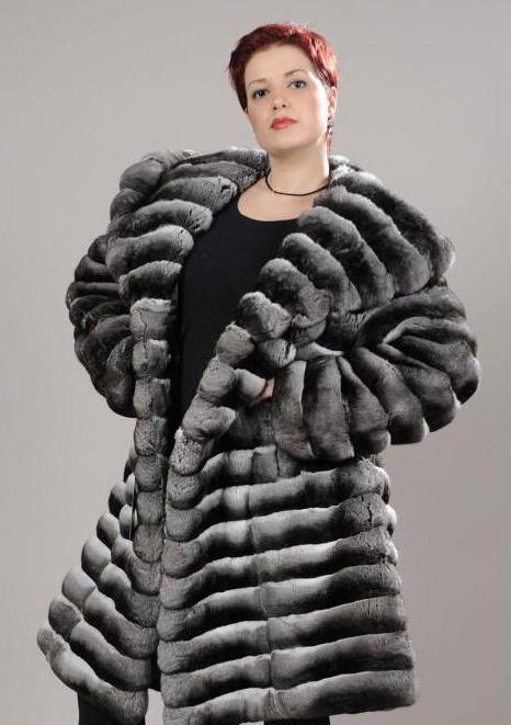 rabbit chinchilla fur coat