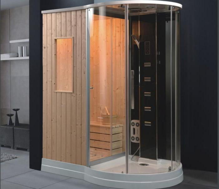 shower cabin with sauna photo