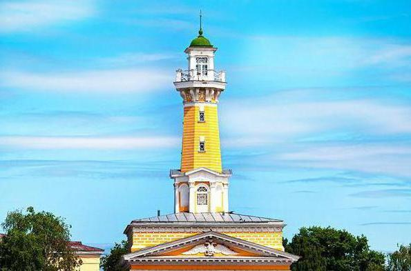 Kostroma fire tower on photo