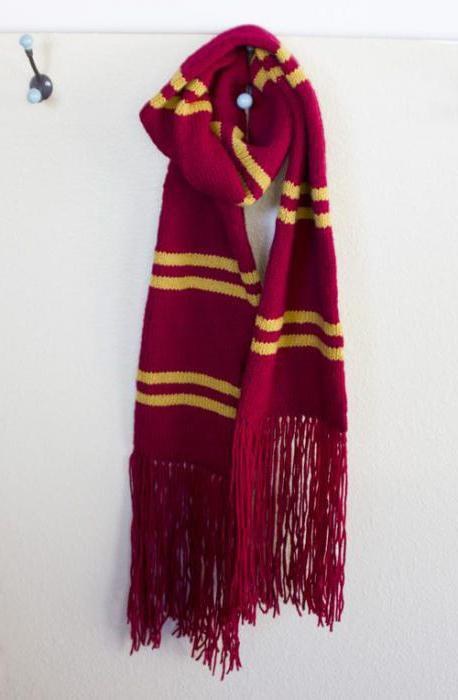 Вязание шарфа гриффиндора