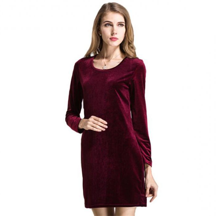 velor and velvet dresses