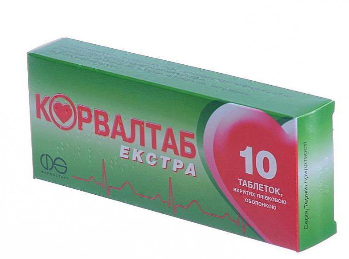 Corvaltab tablets instruction