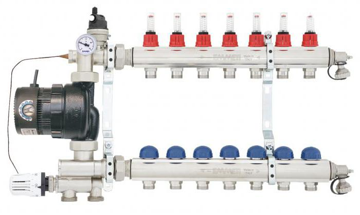 pump and mixing units for underfloor heating