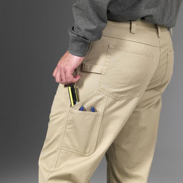 pants with patch pockets on the sides of men