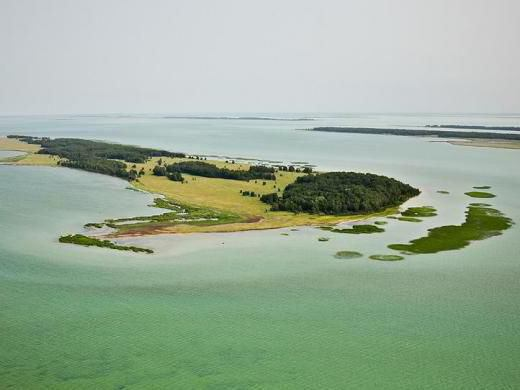 озеро Чаны с названием островов