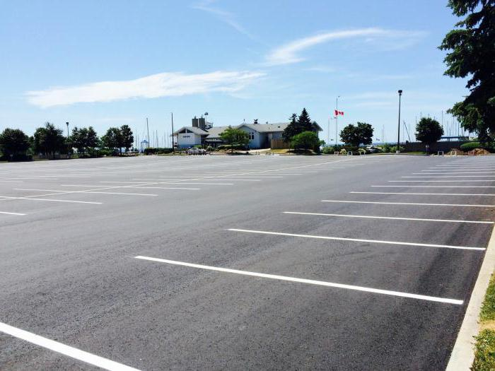 размер парковочного места для легкового автомобиля