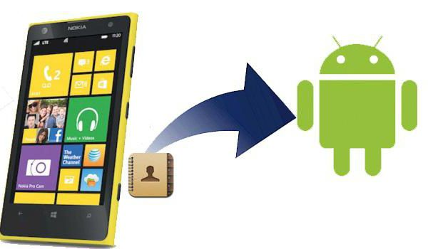 перенос контактов с android на windows phone