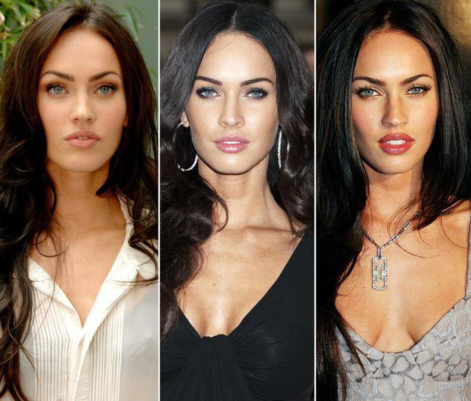 Megan Fox before and after the plastic