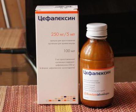 цефалексин суспензия для детей