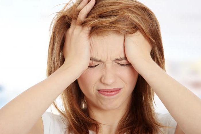 headache when tilting the head