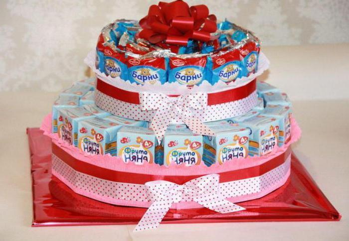 """Торт из """"Барни"""" и сока - отличный вариант для детского праздника"""