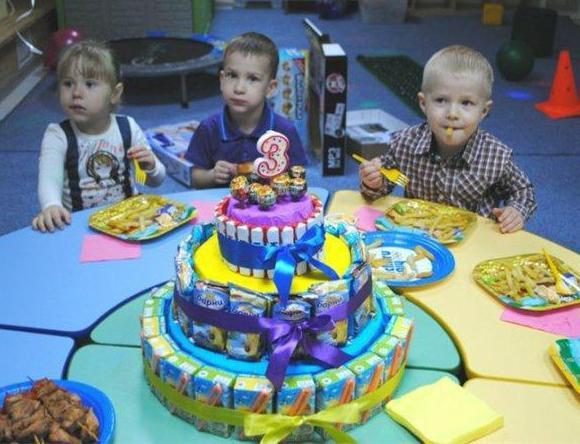 Торт из соков в детский сад своими руками