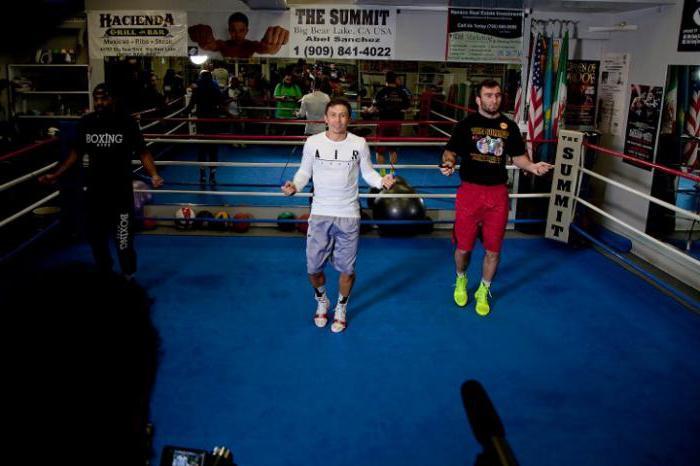 Gennady Golovkin training