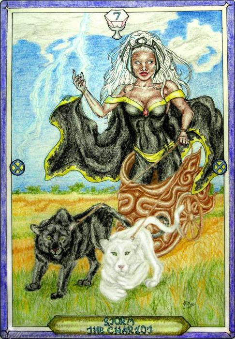 tarot chariot with other cards