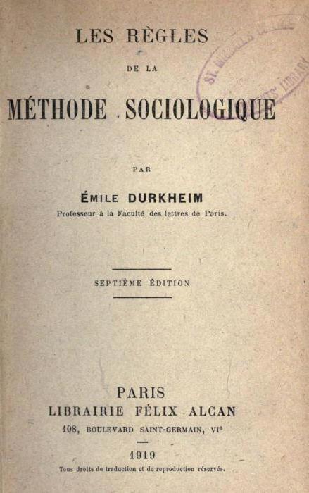 Emil Durkheim books