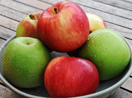 яблоко БЖУ на 100