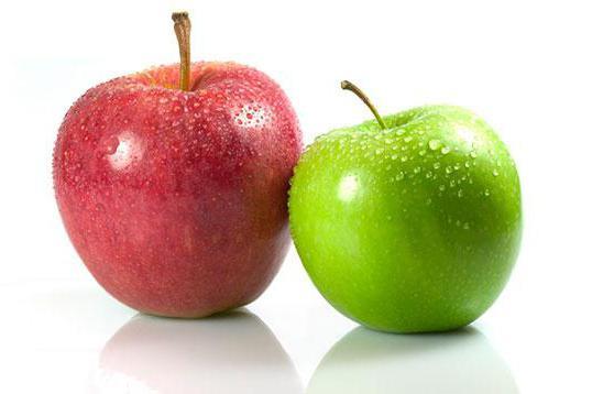 калорийность и БЖУ в яблоке голден