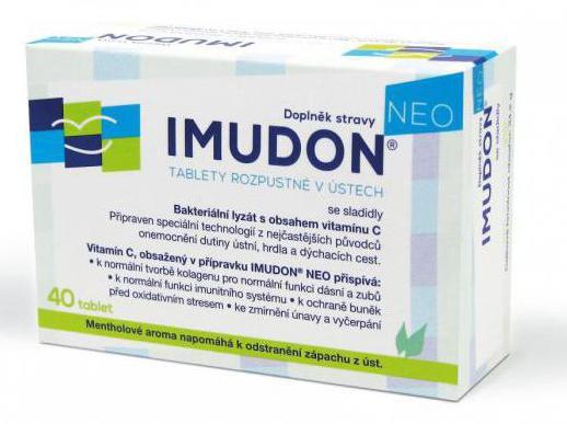 имудон лечение от запаха изо рта