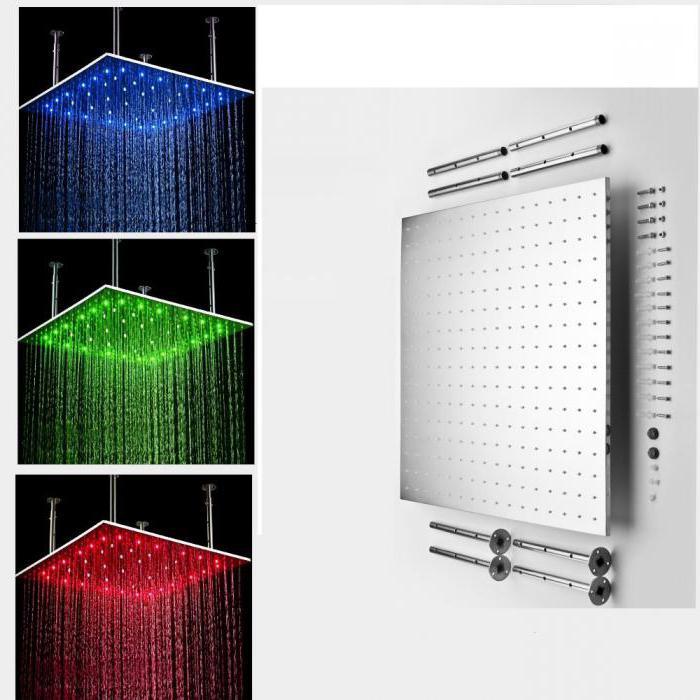 rain shower with mixer