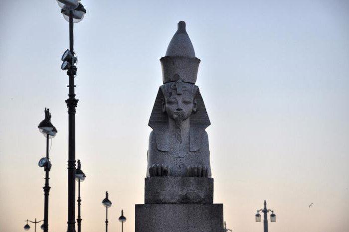Bridge with sphinxes in St. Petersburg