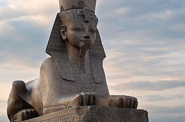 Sphinx sculpture in St. Petersburg