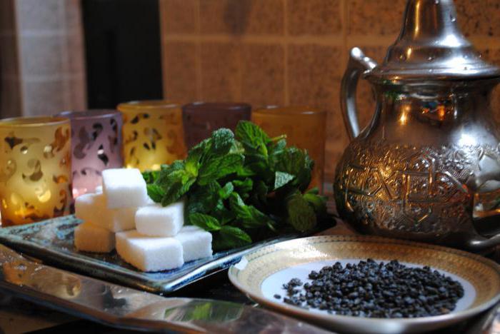 Moroccan tea composition